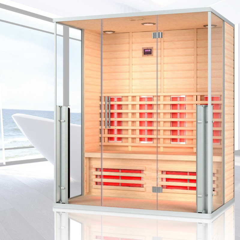 Far Infrared Sauna with glass doors